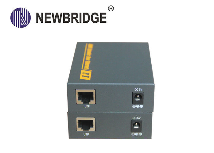 Professional Fiber Optic Extender 120M Distance Over Single Ethernet Cat 5e/6 Cable